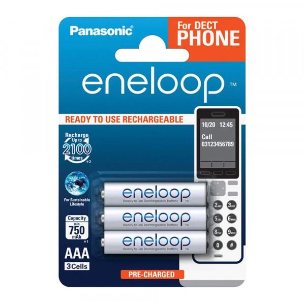 Panasonic Eneloop 3x AAA 750mAh DECT
