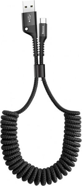 Baseus Fish-eye Spring Data Cable (USB A-C) 1m Black