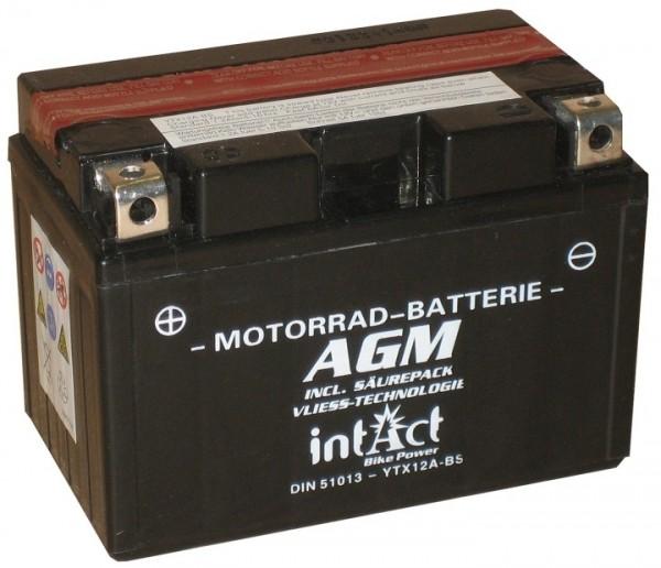Intact Bike Power AGM - YTX12A-BS MoBa 12 V 10 AH (c20) 130 A (EN), YTX12A-BS