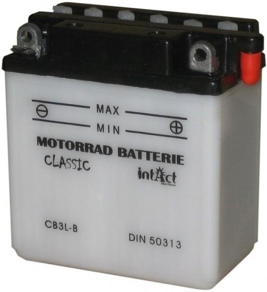 Intact Bike Power Classic - 50313S MoBa 12 V 3 AH (c20) 10 A (EN), CB3L-B  +SP