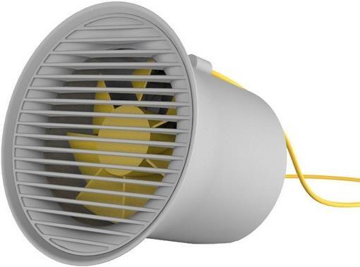 Baseus Small Horn Series USB Ventilator Grau