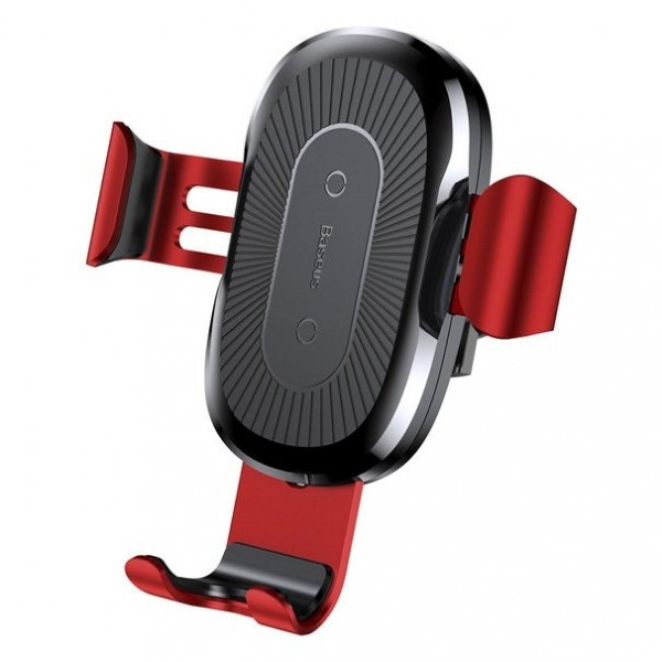 Baseus Qi Wireless Fast Charger Gravity (2 in 1) Red