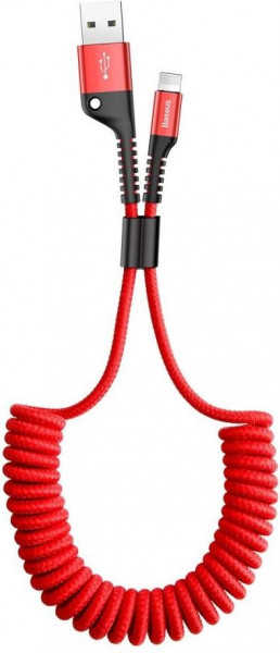 Baseus Fish-eye Spring Data Cable (USB A-C) 1m Red