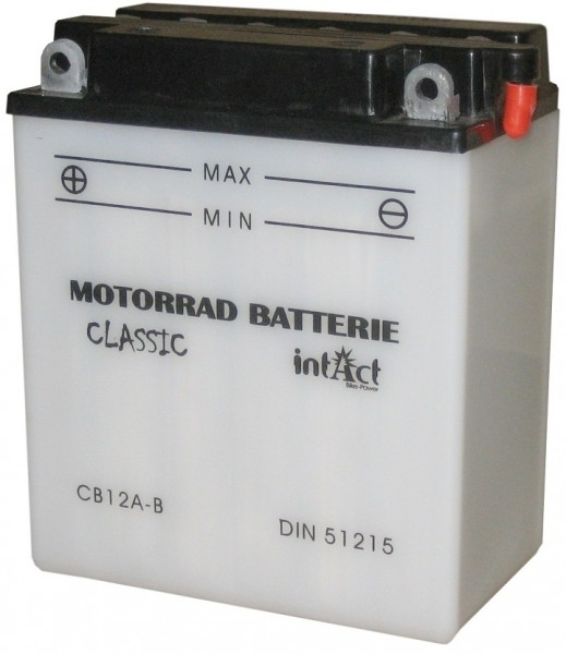 Intact Bike Power Classic - 51215S MoBa 12 V 12 AH (c20) 120 A (EN), CB12A-B