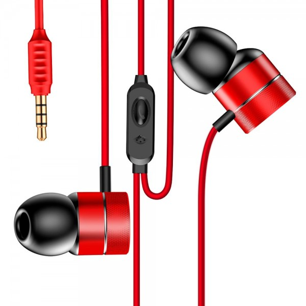 Baseus Encok Wire Earphone H04 Red
