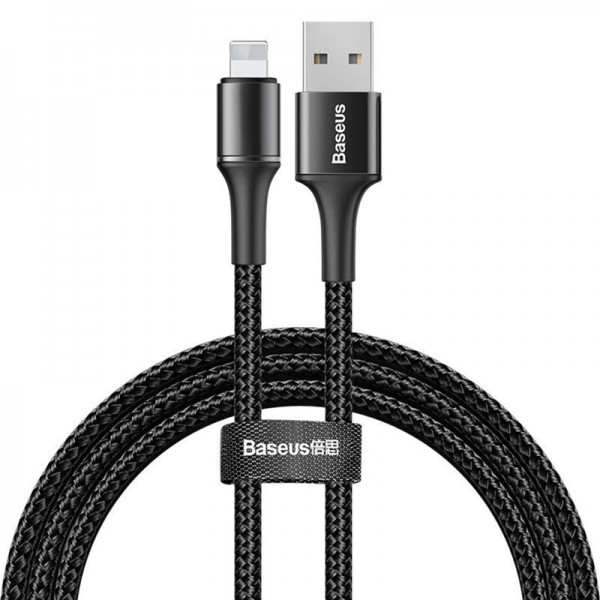 Baseus halo data cable USB For iP 1.5A 2m Black