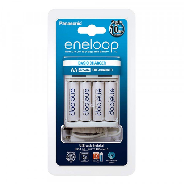 Panasonic Eneloop USB Charger incl. 4x AA 1900mAh