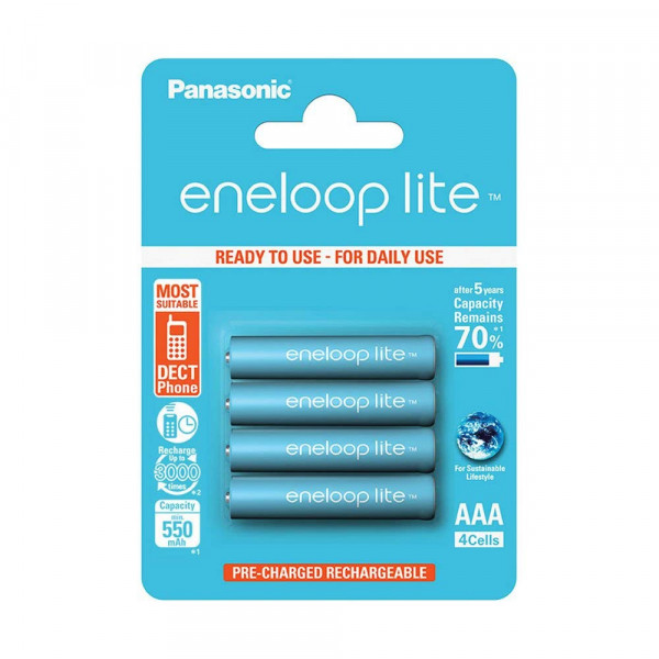 Panasonic Eneloop Lite 4x AAA 550mAh