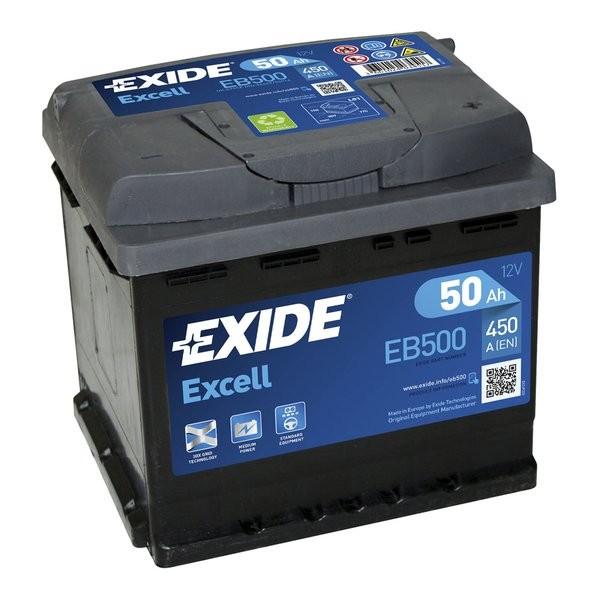 Exide Excell 12 V 50 AH (c20) 450 A (EN)  GUG