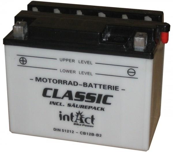 Intact Bike Power Classic - 51212S MoBa 12 V 12 AH (c20) 120 A (EN), CB12B-B2