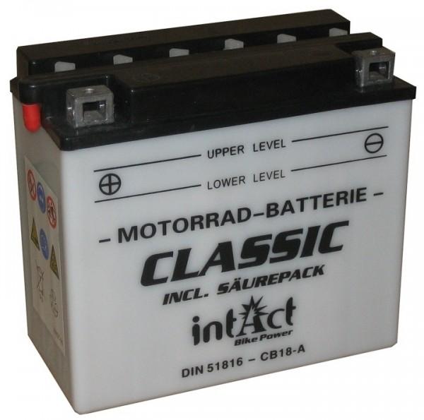 Intact Bike Power Classic - 51816S MoBa 12 V 18 AH (c20) 170 A (EN), CB18-A