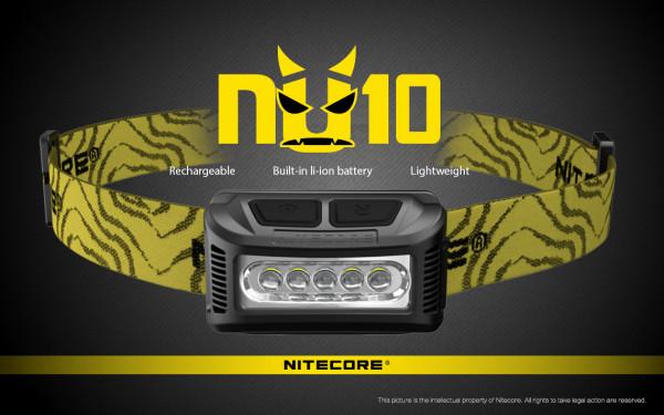 Nitecore Stirnlampe NU10 schwarz