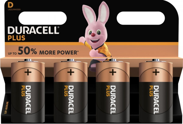 Duracell Plus Power 4x LR20 (D/MN1300)