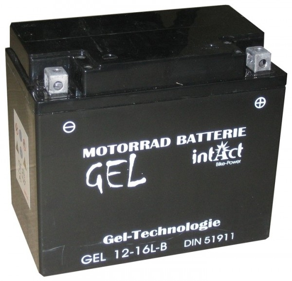Intact Bike Power Gel - GEL12-16L-B MoBa 12 V 19 AH (c20) 280 A (EN), YB16L-B, 51911