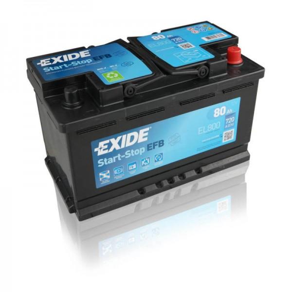 Exide Start-Stop EFB 12 V 80 AH (c20) 720 A (EN)  GUG
