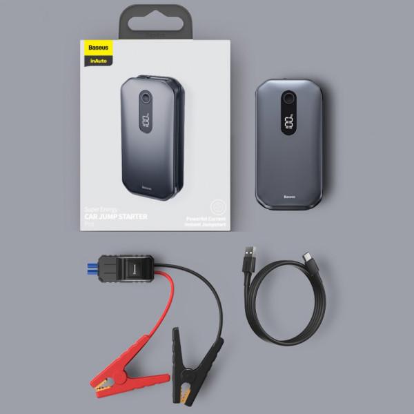 Baseus Super Energy Car Jump Starter 12000mAh, 1000A, USB (black)