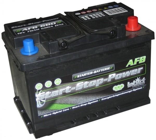 Intact Start-Stop Power EFB 12 V 70 AH (c20) 720 A (EN)  GUG