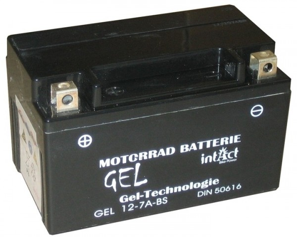 Intact Bike Power Gel - GEL12-7A-BS MoBa 12 V 6 AH (c20) 120 A (EN), YTX7A-BS, 50615