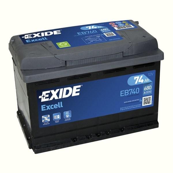 Exide Excell 12 V 74 AH (c20) 680 A (EN)  GUG