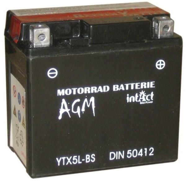 Intact Bike Power AGM - YTX5L-BS MoBa 12 V 4 AH (c20) 50 A (EN), YTX5L-BS