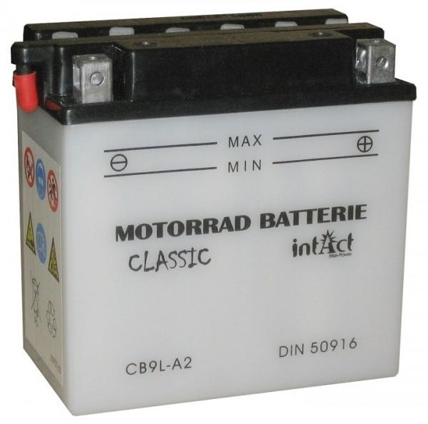 Intact Bike Power Classic - 50916S MoBa 12 V 9 AH (c20) 80 A (EN), CB9L-A2  +SP