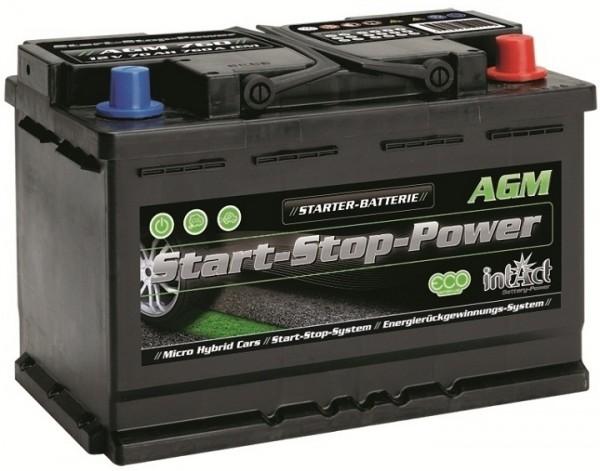 Intact Start-Stop Power AGM 12 V 70 AH (c20) 760 A (EN)  GUG