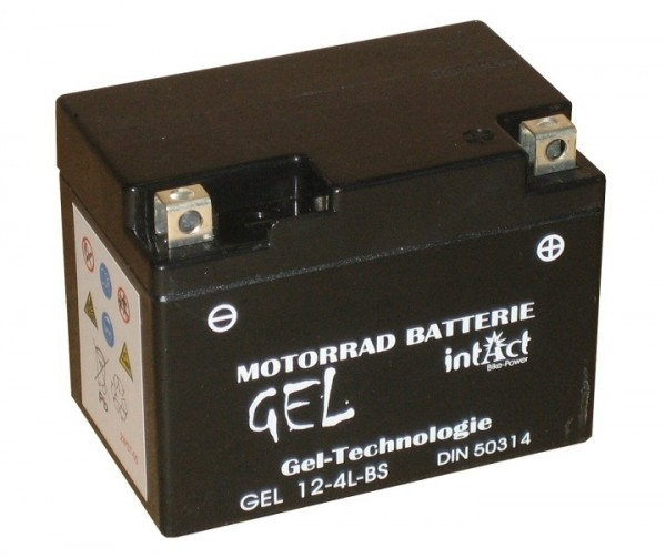 Intact Bike Power Gel - GEL12-4L-BS MoBa 12 V 3 AH (c20) 60 A (EN), YTX4L-BS, 50314