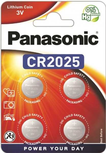 Panasonic Lithium Power 4x CR2025