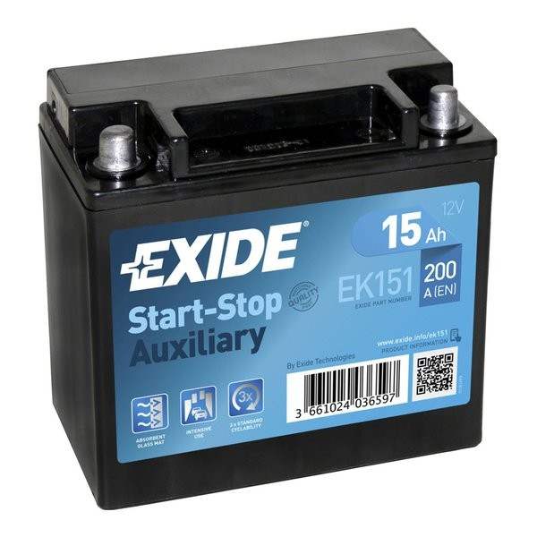 Exide Start-Stop EFB 12 V 15 AH (c20) 200 A (EN)  GUG