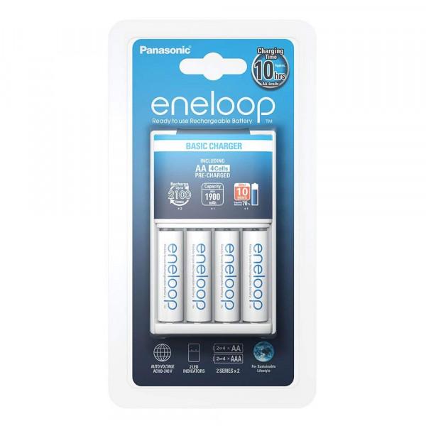 Panasonic Eneloop Basic Charger incl. 4x AA 1900mAh