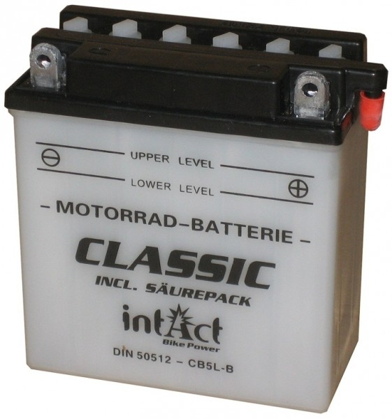 Intact Bike Power Classic - 50512S MoBa 12 V 5 AH (c20) 30 A (EN), CB5L-B  +SP