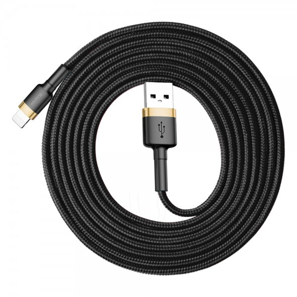 Baseus Cafule Series Cable (USB A-Lightning) 2m Gold-Black