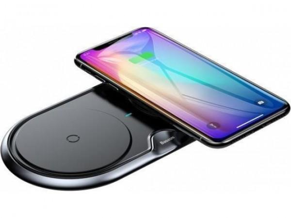 Baseus Dual Qi Wireless Charger Black