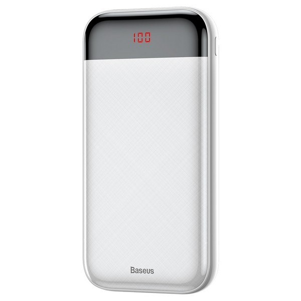 Baseus Mini Cu digital display Power Bank 20000mAh White