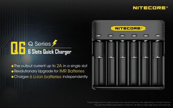 Nitecore Q6 6-Schacht-Ladegerät
