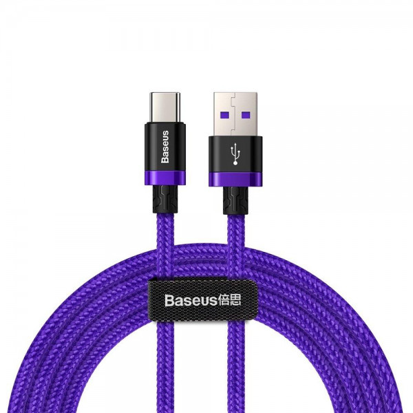 Baseus Purple Gold Red HW flash charge cable (USB A-C) 2m Purple