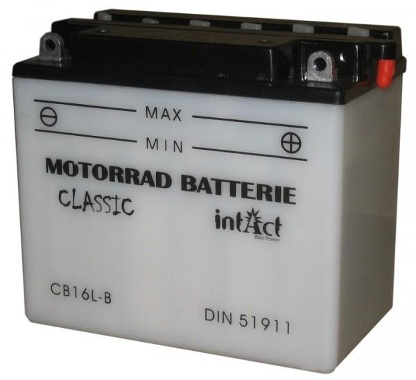 Intact Bike Power Classic - 51911S MoBa 12 V 19 AH (c20) 190 A (EN), CB16L-B