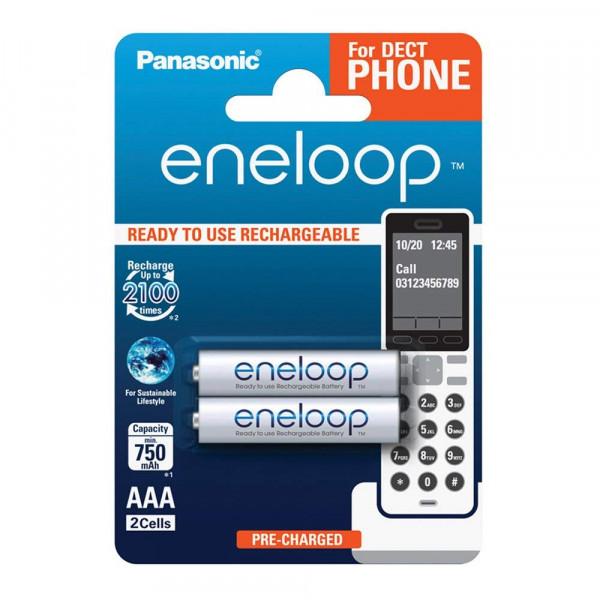 Panasonic Eneloop 2x AAA 750mAh DECT