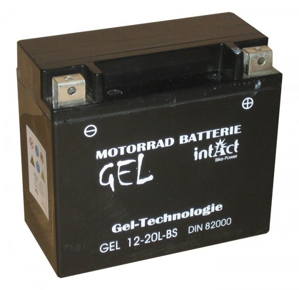 Intact Bike Power Gel - GEL12-20L-BS MoBa 12 V 18 AH (c20) 300 A (EN), YTX20L-BS, 82000
