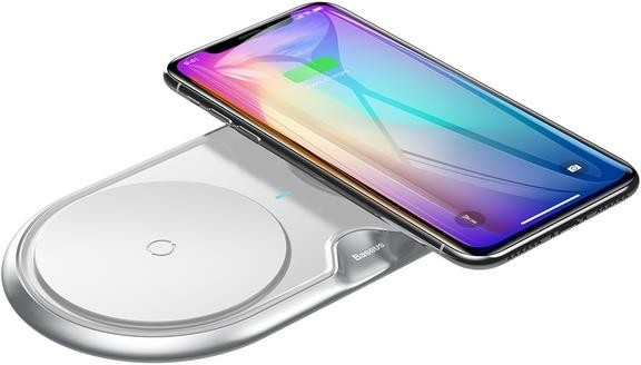 Baseus Dual Qi Wireless Charger Silver