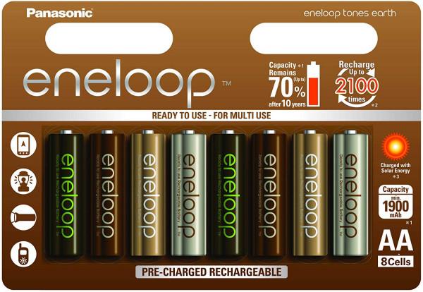 Panasonic Eneloop 8x AA 1900mAh Earth Tones limited edition
