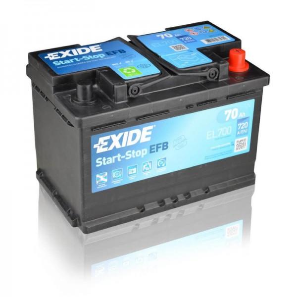 Exide Start-Stop EFB 12 V 70 AH (c20) 720 A (EN)  GUG