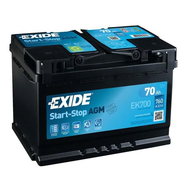 Exide Start-Stop AGM 12 V 70 AH (c20) 760 A (EN)  GUG