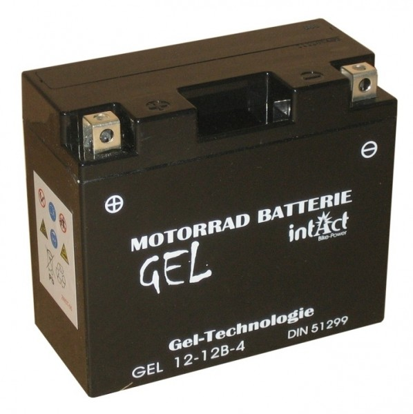 Intact Bike Power Gel - GEL12-12B-4 MoBa 12 V 10 AH (c20) 210 A (EN), YT12B-4, GT12B-4