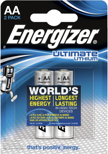 Energizer Ultimate Lithium 2x AA L91/LR6