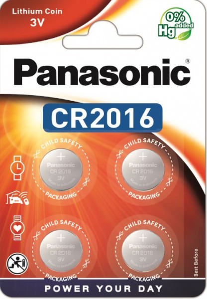 Panasonic Lithium Power 4x CR2016