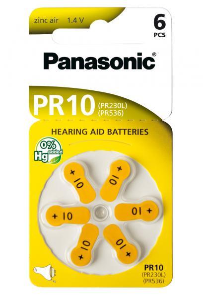 Panasonic Zinc-Air 6x PR10 (PR230) (Hörgeräte/Hearing Aid)