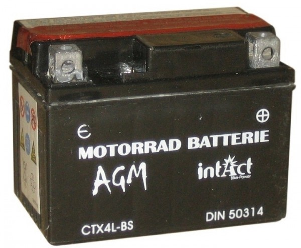 Intact Bike Power AGM - YTX4L-BS MoBa 12 V 3 AH (c20) 50 A (EN), YTX4L-BS